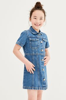 Fitted Denim Dress (3-16yrs)
