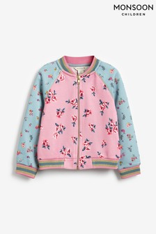 Monsoon Sequin Horse Ditsy Floral Bomber Jacket