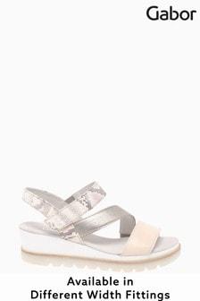 Gabor Yarm Rose Multi Leather Strap Sandals