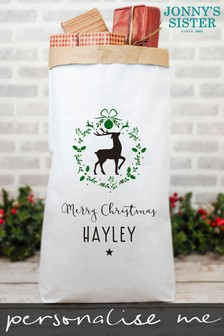 Personalised Paper Presents Sack by Jonnys Sister