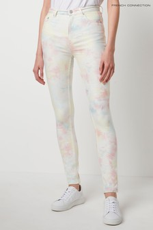 French Connection Sade Tie Dye Denim High Waist Skinny Jeans