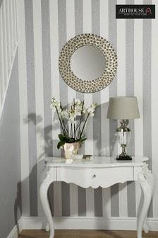 Glitterati Stripe Wallpaper by Arthouse