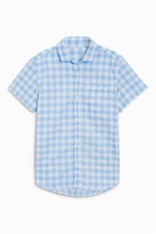 Short Sleeve Gingham Shirt (3-16yrs)