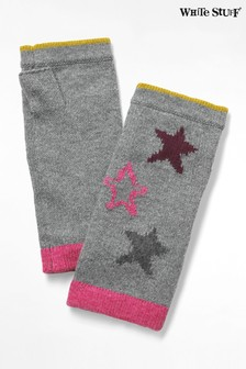 White Stuff Grey Paper Stars Fingerless Gloves