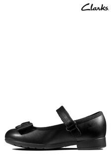 Clarks Black Scala Tap T Shoes