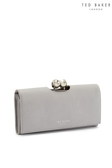 Ted Baker Grey Twisted Top Clutch Bag