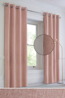 Textured Pom Pom Eyelet Curtains