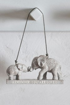 Elephant Family Hanging Decoration