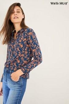 White Stuff Blue/Red Floral Print Shirt