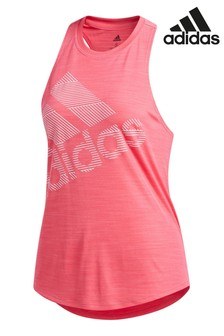 adidas Pink Badge Of Sport Logo Vest
