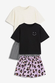 2 Pack Animal Woven Shorts With Jersey Top Pyjamas (3-16yrs)