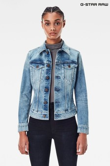 G-Star 3301 Slim Fit Light Wash Denim Jacket