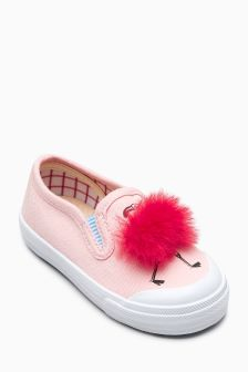 Flamingo Pom Skate Shoes (Younger)