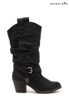 Rocket Dog Black Sidestep Mid Calf Western Boots
