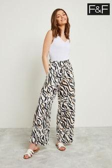 F&F Ivory Zebra Trouser