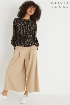 Oliver Bonas Camel Bay Wide Leg Trousers