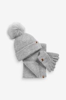 Hat, Scarf And Gloves Set (Older)