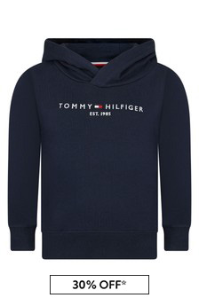 Tommy Hilfiger Boys Navy Cotton Hoodie
