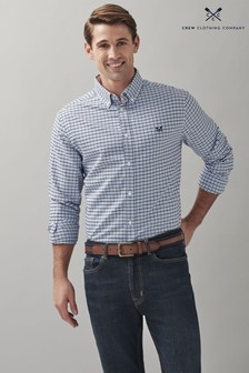 Crew Clothing Company Blue Classic Oxford Check Shirt