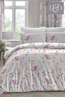 D&D Exclusive To Next Jessica Floral Duvet Cover and Pillowcase Set