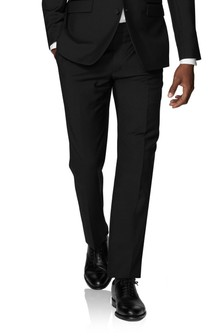T.M. Lewin Lancewood Black Dinner Slim Fit Trousers