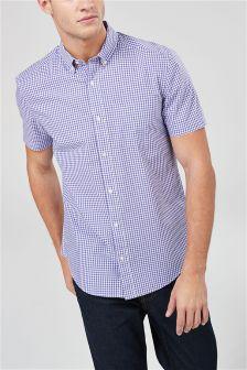 Koszulka z krótkim rękawem w kratkę gingham