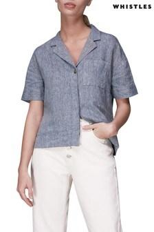 Whistles Denim Karla Linen Shirt