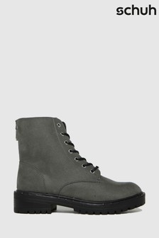 Schuh Grey Amelia Lace Up Boots
