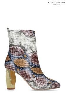 Kurt Geiger Ladies Daxon Snake Print Boots