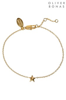 Oliver Bonas Susie Star Charm Gold Plated Bracelet
