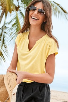 Jersey Notch Neck Top