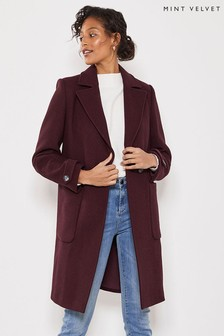 Mint Velvet Plum Boyfriend Coat