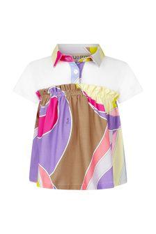 Emilio Pucci Baby Girls Purple Cotton Poloshirt