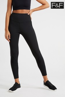 F&F Betsy High Shine Panelled Leggings
