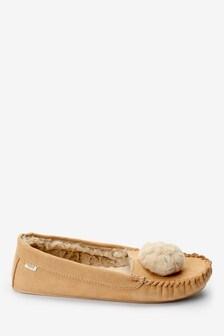 Pom Moccasin Slippers