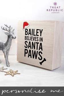 Personalised Santa Paws Christmas Box by Treat Republic