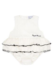 Emporio Armani Baby Girls White Romper