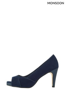 Monsoon Blue Nova Navy Court Shoes