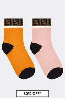 Girls Multicoloured Cotton Socks Set