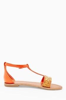 Glitter T-Bar Sandals (Older)