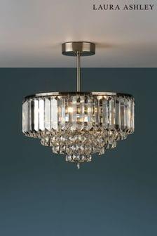 Laura Ashley Vienna Crystal 3 Light Semi Flush Ceiling Light