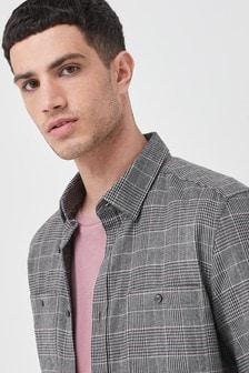 Twin Pocket Checked Shirt