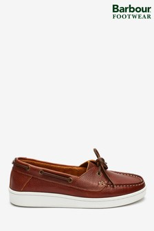 Barbour® Tan Miranda Boat Shoes