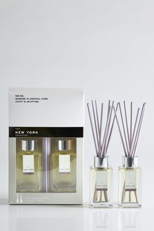 Set of 2 New York Collection Luxe 85ml Diffuser