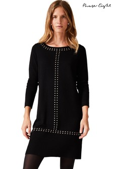 Phase Eight Black Robyn Stud Shiloh Dress