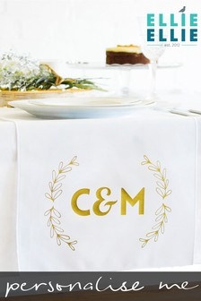 Personalised Initials Table Runner by Ellie Ellie