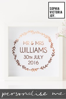 Personalised Framed Wedding Print by Sophia Victoria Joy