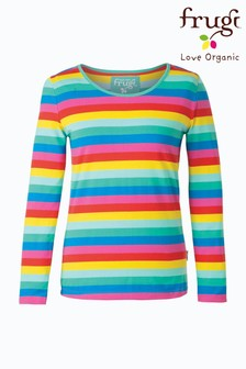 Frugi GOTS Organic Long Sleeve Rainbow Stripe Top
