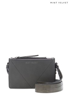 Mint Velvet Grey Laura Croc Cross Body Bag