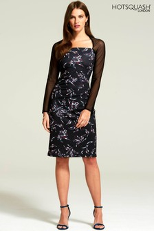 HotSquash Mosaic Flower Print Jersey Hostess Dress